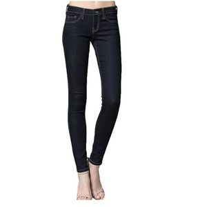 Flying Monkey Low Rise Dark Baby Wash Skinny Jeans
